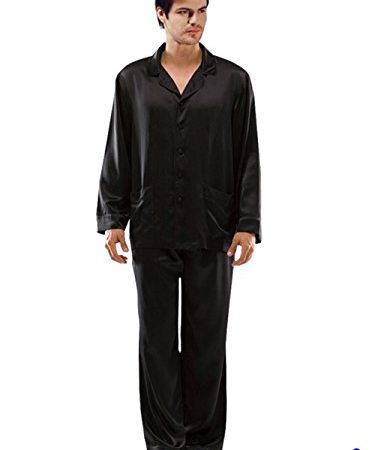 ElleSilk Men s Silk Pajama Set c9f81bbce